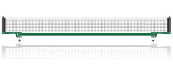 Netto voor de vectorillustratie van de pingpongpingpong Stock Foto's