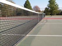 Netto zijaanzicht van tennisbaan Royalty-vrije Stock Afbeelding