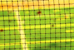 Nettohintergrund für Badmintonspiel lizenzfreies stockfoto