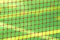 Nettohintergrund für Badmintonspiel stockfotografie