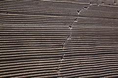 Nettoyé par un sable de tracteur sur la plage méditerranéenne Photographie stock libre de droits
