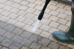 Nettoyage à haute pression - 16 Photos libres de droits