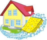 Nettoyage à la maison Images stock