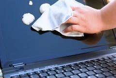 Nettoyage d'affichage à cristaux liquides Image libre de droits