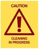 Nettoyage d'ATTENTION en cours Images libres de droits