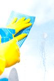 Nettoyage d'hublot Images stock