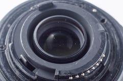 Nettoyage d'optique à la maison photographie stock libre de droits