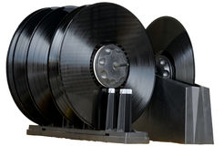 Nettoyage d'un vinyle sale Photo libre de droits