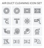 Nettoyage de conduit d'air Illustration Stock