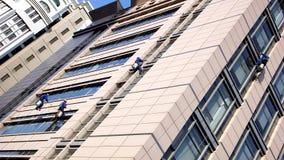 Nettoyage de construction Photo libre de droits