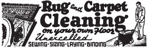 Nettoyage de couverture et de tapis illustration stock