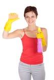 Nettoyage de femme Photographie stock