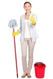 Nettoyage de femme photos stock
