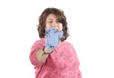 Nettoyage de femme Photographie stock libre de droits