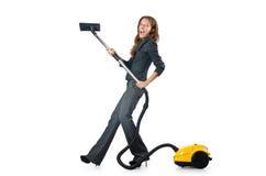 Nettoyage de femme d'affaires Images stock
