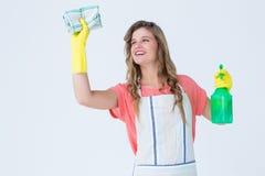 Nettoyage de femme de hippie images stock