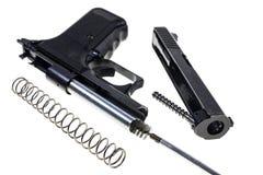 Nettoyage de l'arme à feu Photographie stock libre de droits
