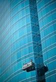 Nettoyage de la construction image stock