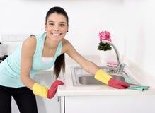 Nettoyage de la maison photographie stock libre de droits