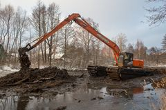 Nettoyage de la rivière de Malashka Image stock