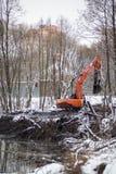 Nettoyage de la rivière de Malashka Photographie stock