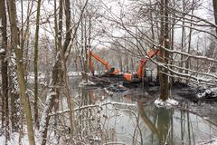 Nettoyage de la rivière de Malashka Image libre de droits