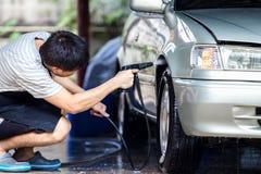 Nettoyage de lavage de voiture Photographie stock libre de droits