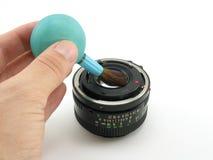 Nettoyage de lentille Images stock