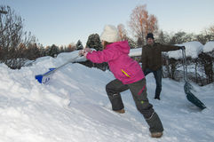 Nettoyage de neige Image stock