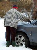 Nettoyage de neige du véhicule 3 images libres de droits