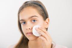 Nettoyage de peau Images libres de droits