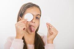 Nettoyage de peau Photos libres de droits