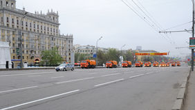Nettoyage de rue Images libres de droits
