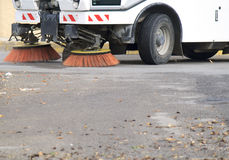 Nettoyage de rue Photo stock