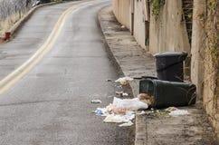 Nettoyage de trottoir Photo stock