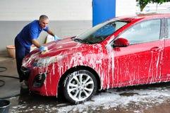 Nettoyage de véhicule. Image libre de droits