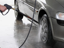 Nettoyage de véhicule Image stock