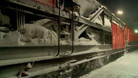 Nettoyage des voies de chemin de fer de la neige clips vidéos
