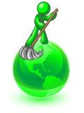Nettoyage du monde Photo libre de droits