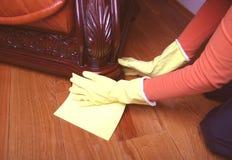 Nettoyage du sofa. Photo libre de droits