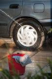 Nettoyage du véhicule Images stock