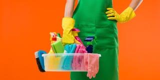 Nettoyage en cours Images stock