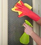 Nettoyage en verre Image libre de droits