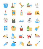 Nettoyage et domestique Flat Icons illustration stock