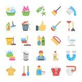Nettoyage et domestique Icon Pack illustration libre de droits