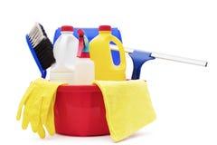 Nettoyage et produits d'hygiène de ménage images libres de droits