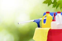 Nettoyage et produits d'hygiène de ménage photographie stock libre de droits