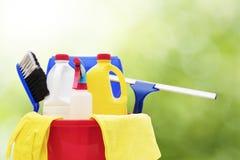 Nettoyage et produits d'hygiène de ménage photo stock