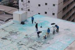 Nettoyage extérieur de plancher images libres de droits