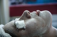 Nettoyage facial image stock